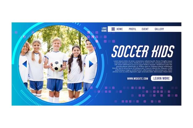 Voetbal concept bestemmingspagina