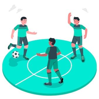 Voetbal concept illustratie