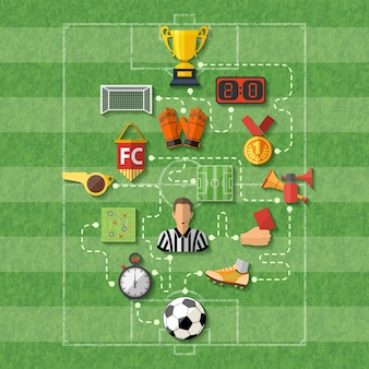 Voetbal concept