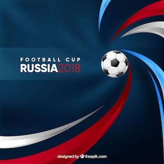 Voetbal cup achtergrond met bal
