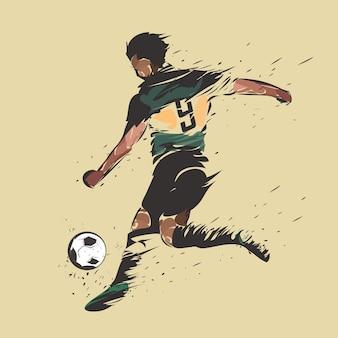Voetbal die inktplons schieten