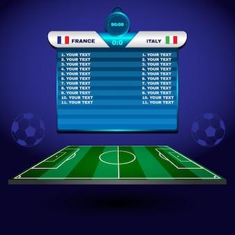 Voetbal elementen ontwerp