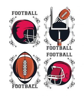 Voetbal elementen pictogram