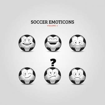 Voetbal emoticons collection