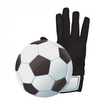Voetbal en keepershandschoenen