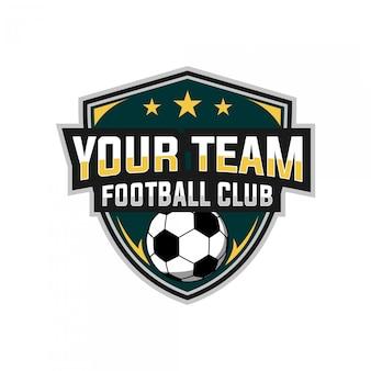 Voetbal esports logo-ontwerp