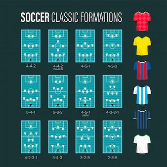 Voetbal formaties collectie