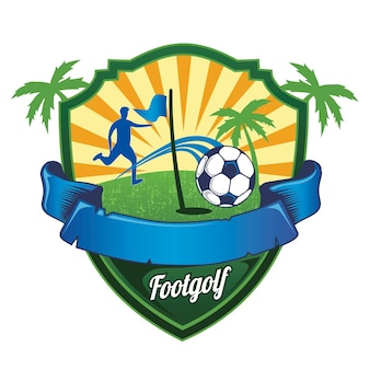 Voetbal golf logo