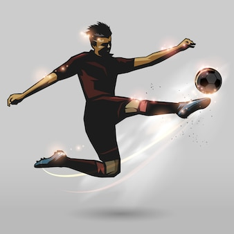 Voetbal halve volley