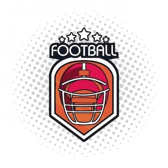Voetbal helm pictogram