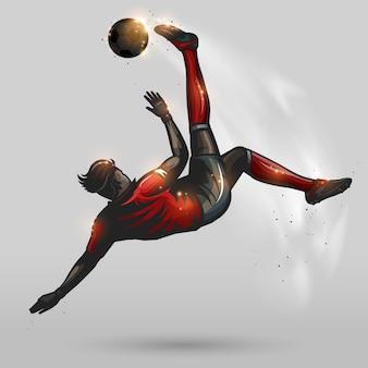 Voetbal hoge overhead kick