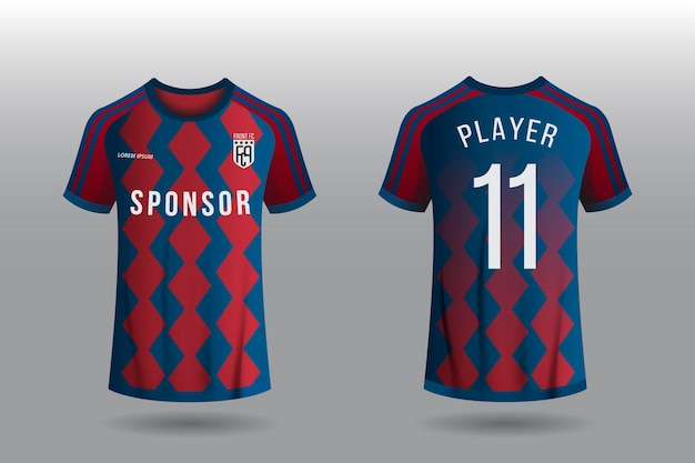 Voetbal jersey concept