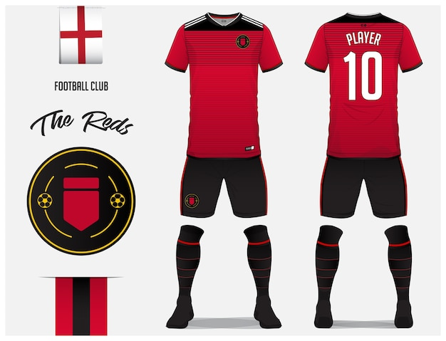 Voetbal jersey of voetbal kit sjabloon