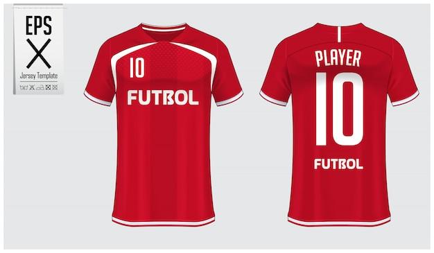 Voetbal jersey of voetbal kit sjabloonontwerp