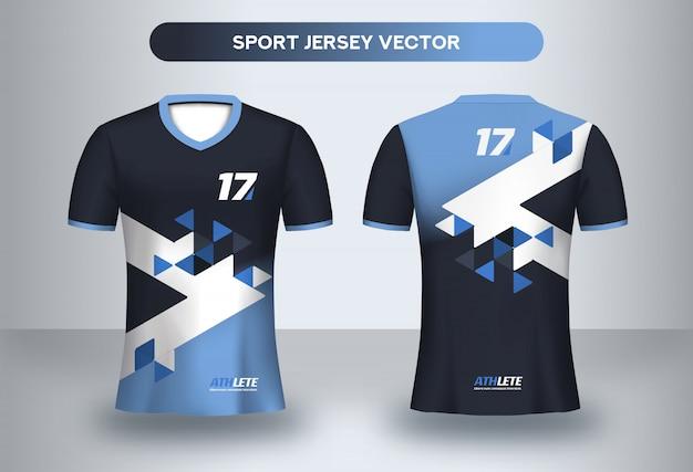 Voetbal jersey ontwerpsjabloon. corporate design, voetbalclub uniform t-shirt voor- en achteraanzicht.