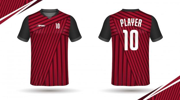 Voetbal jersey sjabloon-sport t-shirt ontwerp