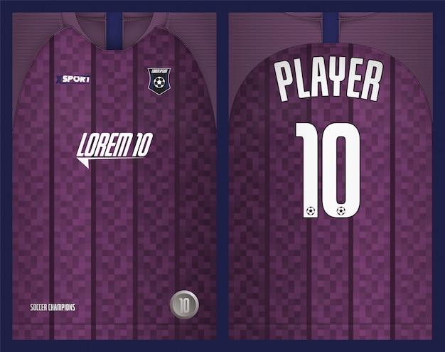 Voetbal jersey sjabloon sport t-shirt ontwerp