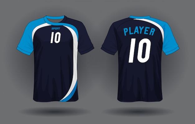 Voetbal jersey sjabloon. sport t-shirt ontwerp.