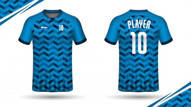 Voetbal jersey sjabloon sport t-shirt ontwerpen