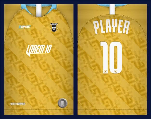 Voetbal jersey sjabloon sport t-shirt sjabloon