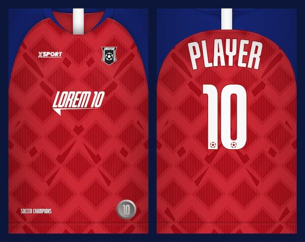 Voetbal jersey sjabloon-sport t-shirt