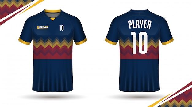 Voetbal jersey sjabloon sport t-shirt