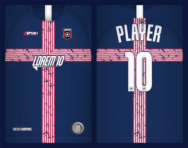 Voetbal jersey sjabloon sport tshirt ontwerp