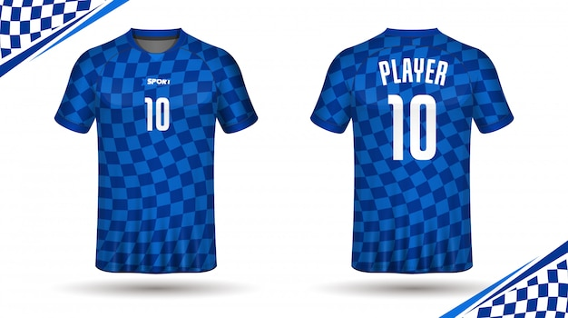 Voetbal jersey sjabloon sport tshirt