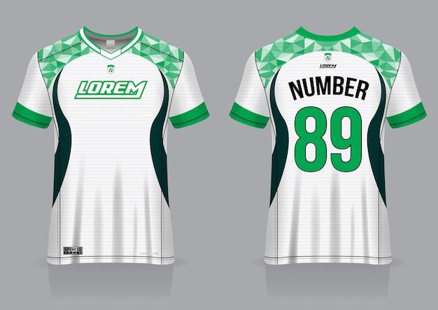 Voetbal jersey sport sjabloon uniform voor- en achteraanzicht