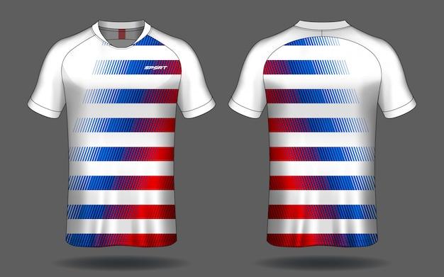 Voetbal jersey sport t-shirt design.