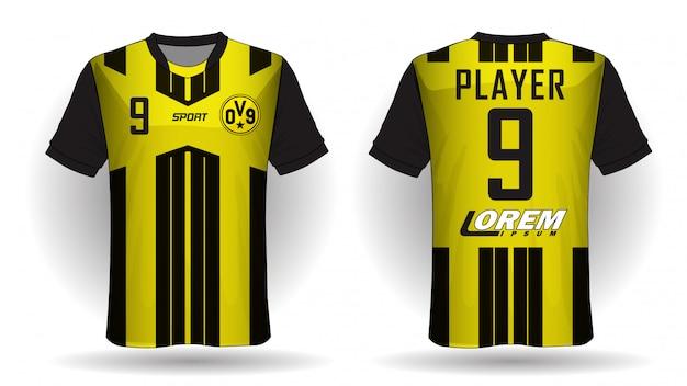 Voetbal jersey sport t-shirt.