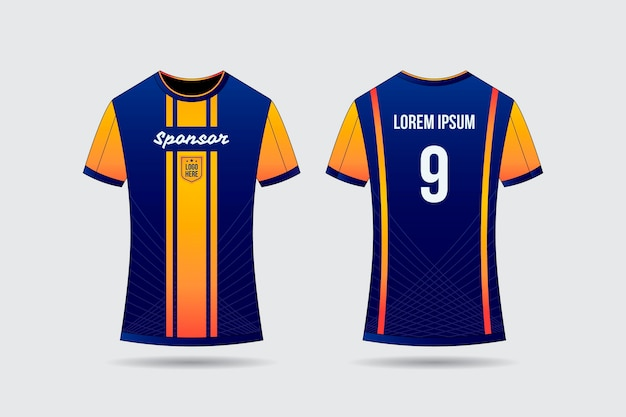 Voetbal jersey t-shirt concept