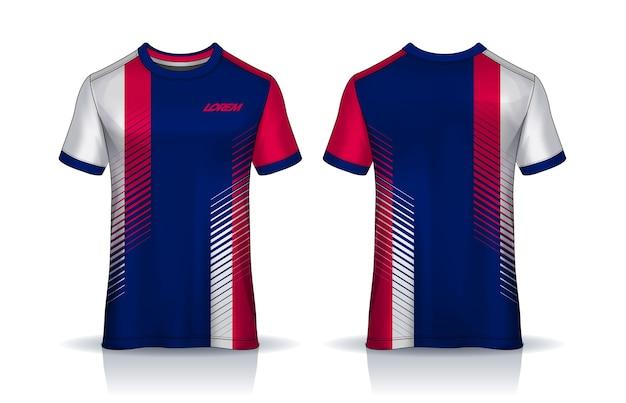 Voetbal jersey t-shirt ontwerp