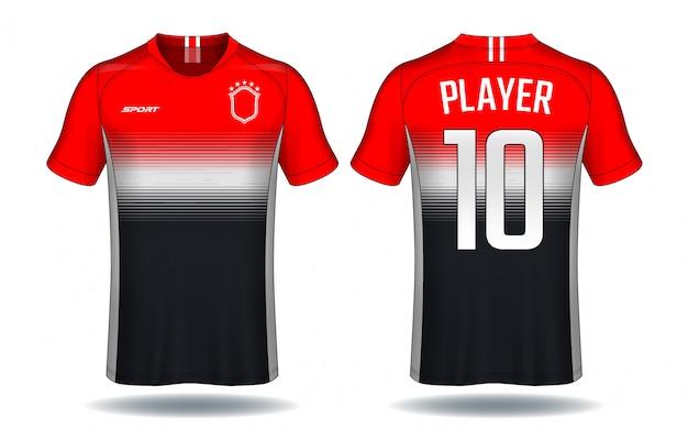 Voetbal jersey template.sport t-shirt design.