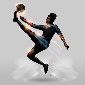 Voetbal jump kick