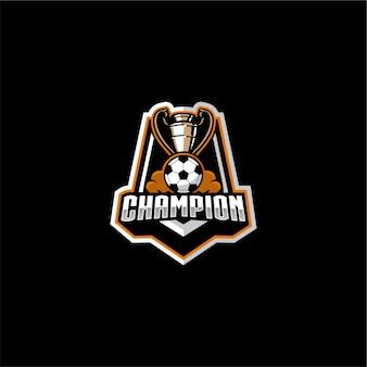 Voetbal kampioen logo