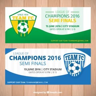 Voetbal kampioenen 2016 banners