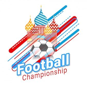 Voetbal kampioenschap banner of posterontwerp