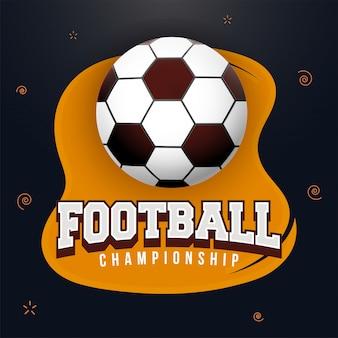 Voetbal kampioenschap banner of posterontwerp.