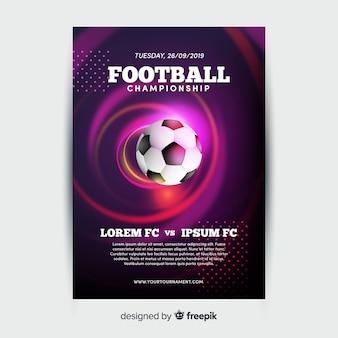 Voetbal kampioenschap poster sjabloon