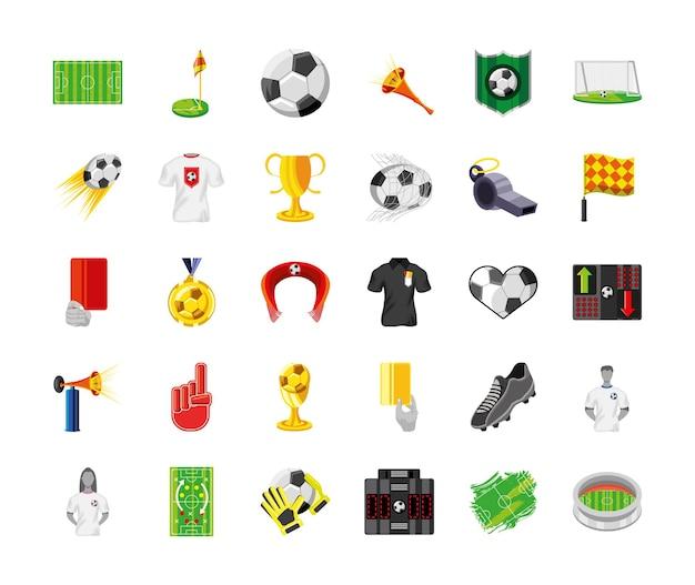 Voetbal kampioenschap set