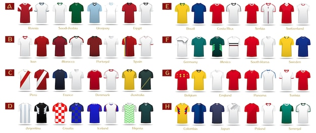 Voetbal kit of voetbal jersey sjabloon