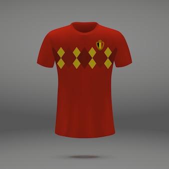 Voetbal kit van spanje, t-shirt sjabloon voor voetbal jersey