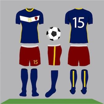 Voetbal kleren ontwerp