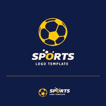 Voetbal logo ontwerp