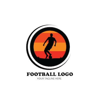 Voetbal logo silhouet ontwerp vector