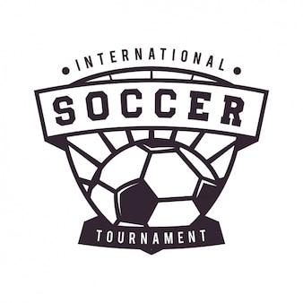 Voetbal logo template ontwerp
