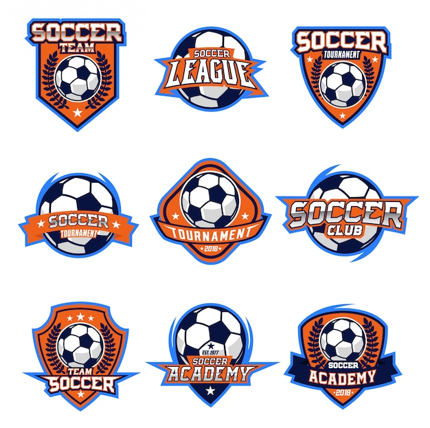 Voetbal logo vector set