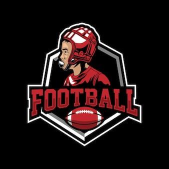 Voetbal mascotte logo ontwerp