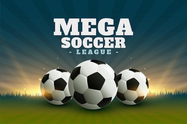 Voetbal of voetbal league kampioenschap achtergrond